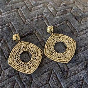 Gold Woven Earrings